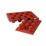 11 BABA' SILICONE ROSSO mm. Ø 45 h.48 ml.50 SF020