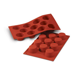 11 MUFFIN SILICONE ROSSO mm. Ø 51 h.28 ml.50 SF022