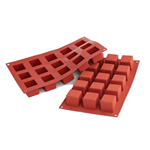 15 CUBI SILICONE ROSSO mm.35x35x35 ml.42 SF105