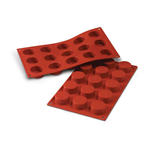 15 PETIT-FOURS SILICONE ROSSO mm. Ø 40 h.20 ml.30 SF027