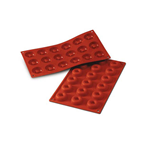 18 MINI SAVARIN SILICONE ROSSO mm. Ø 41 h.12 ml.18 SF010